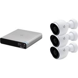 Kit 3 caméras bullet HD audio IR int/ext +NVR 1To