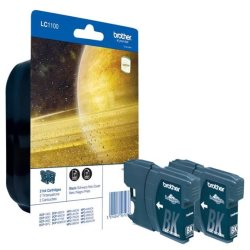 Blister de  2 cartouches d'encre noire LC1100BK