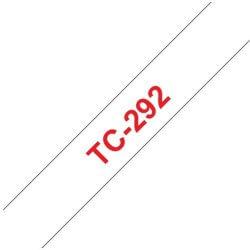 Ruban d'étiquettes TC292 Rouge/Blanc