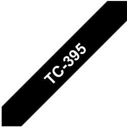 Ruban d'étiquettes TC395 Blanc/Noir