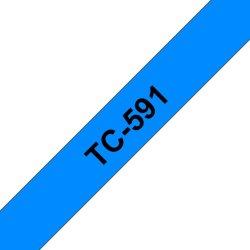 Ruban TC 9mm noir / bleu