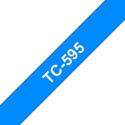 Ruban d'étiquettes TC595 blanc / bleu