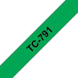 Ruban TC 9mm noir / vert