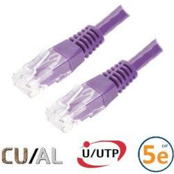 Cordon RJ45 Cat 5e U/UTP Classic  0.3m violet