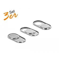 Pack 3 obturateurs Webcam silver