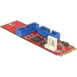 Convertisseur M.2 Key B+M mâle / 2x USB 3.0 IDC