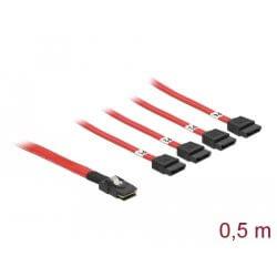 Câble Mini SAS SFF-8087 > 4SATA 7 pts 0,5 m