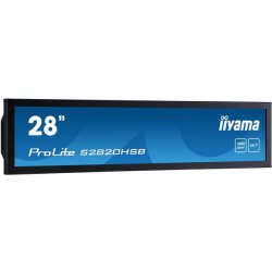 "Moniteur IPS Led Paysage 28"" 1920x360 VGA/DVI/HDMI"